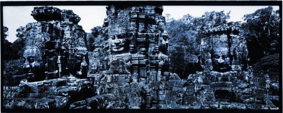 Angkor Wat-faces of Bayon.